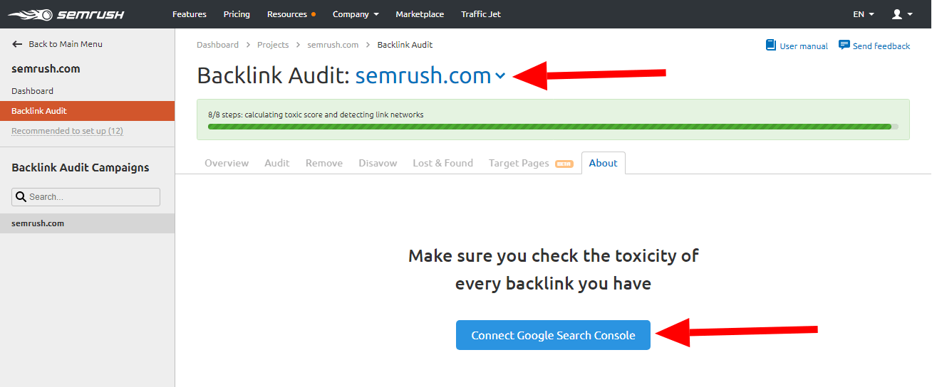 Semrush Review: Backlink Audit