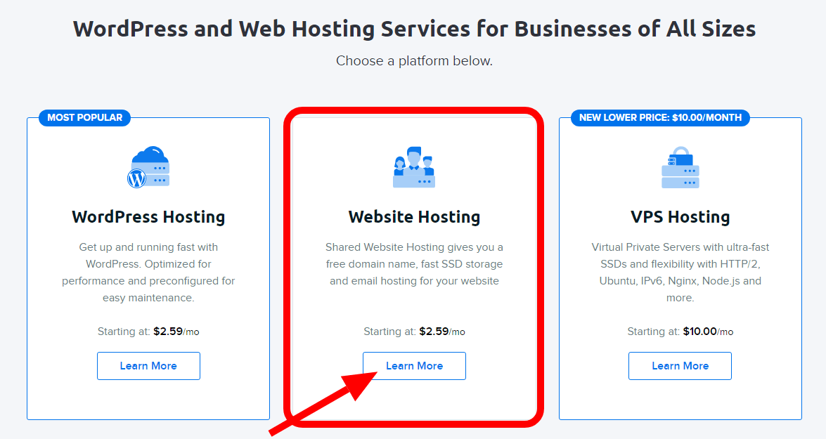 Dreamhost hosting plans